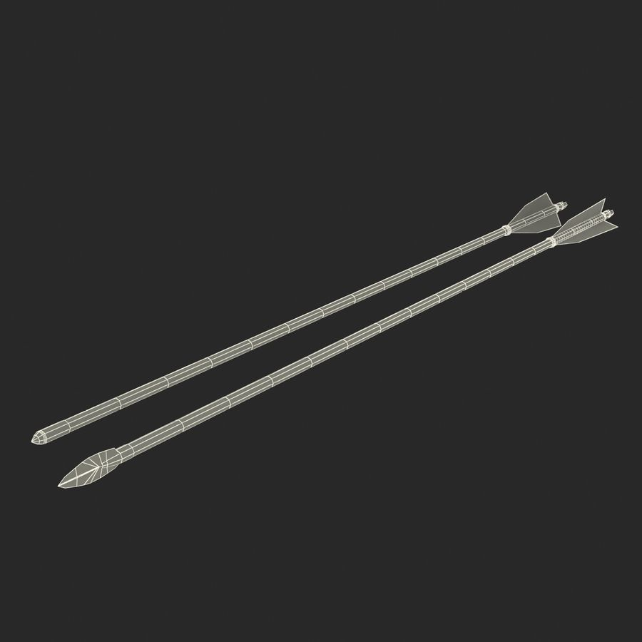 Bow Arrows Set royalty-free 3d model - Preview no. 30