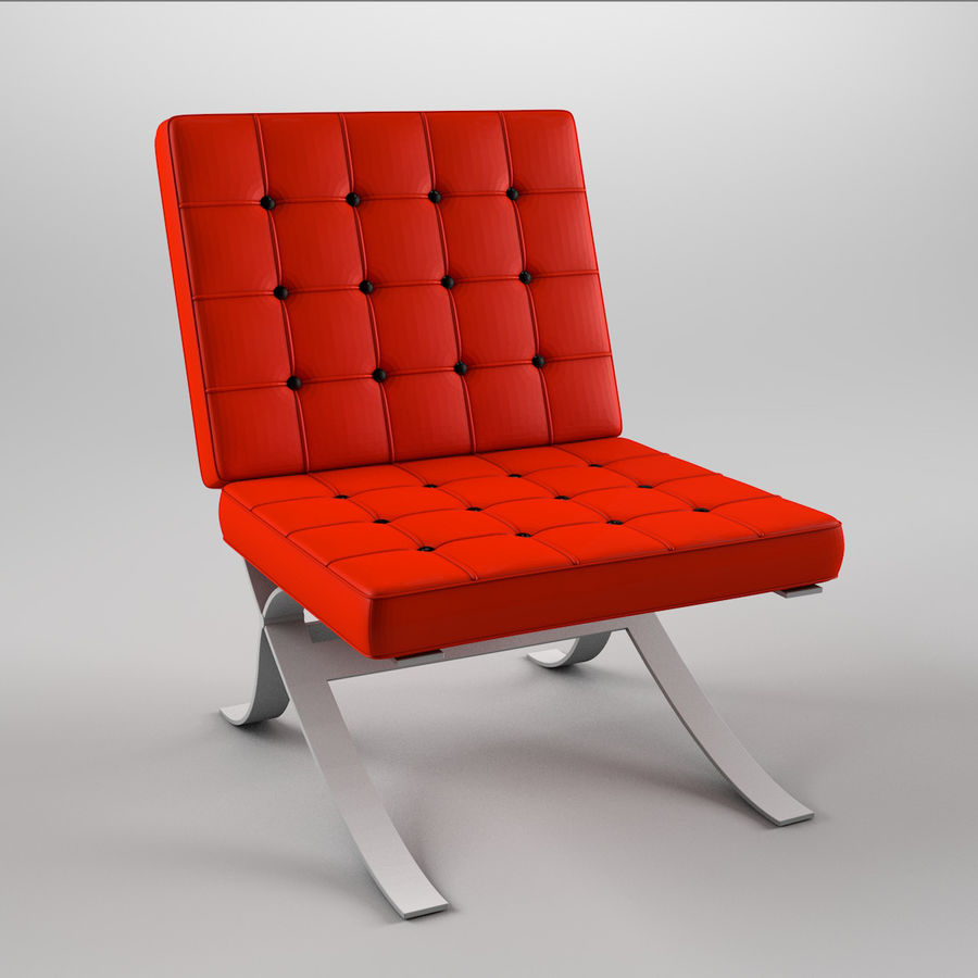 Barcelona Chair Royalty Free 3d Model   Preview No. 1