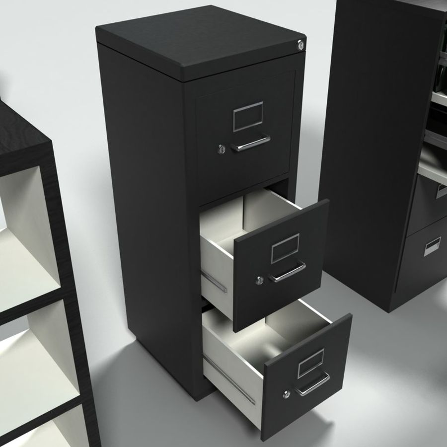 Office Furniture Collection royalty-free 3d model - Preview no. 8