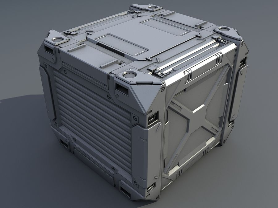 C-Container 1 royalty-free 3d model - Preview no. 1