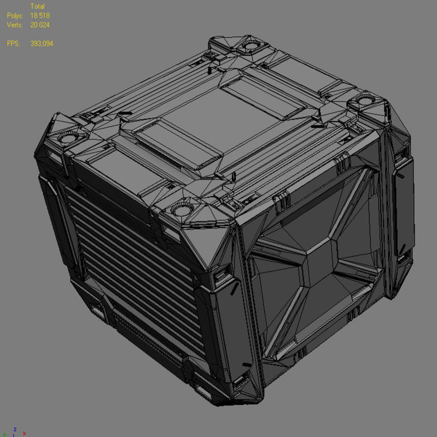 C-Container 1 royalty-free 3d model - Preview no. 5