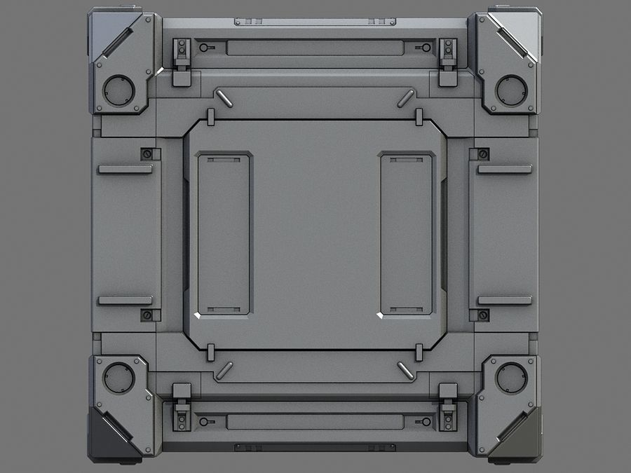 C-Container 1 royalty-free 3d model - Preview no. 2