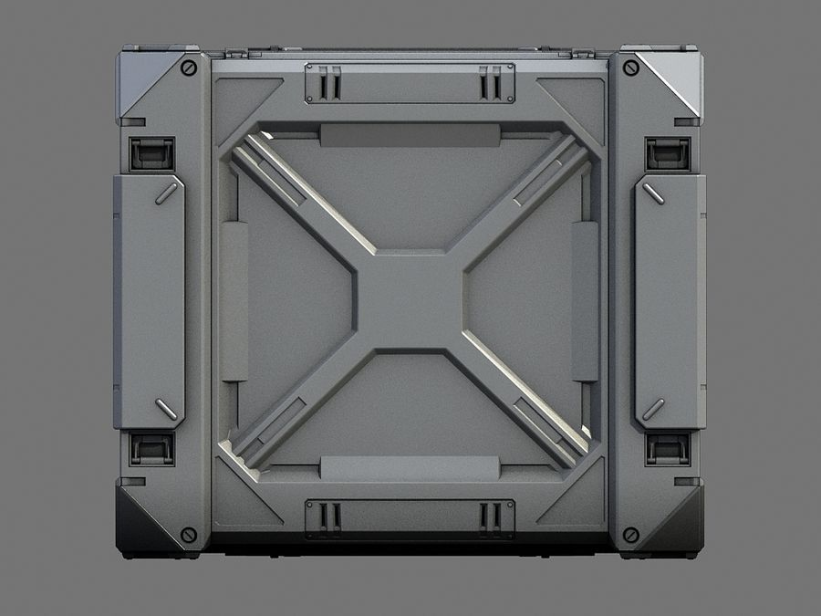 C-Container 1 royalty-free 3d model - Preview no. 4