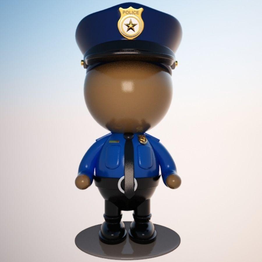 Personagem de policial de desenho animado royalty-free 3d model - Preview no. 7