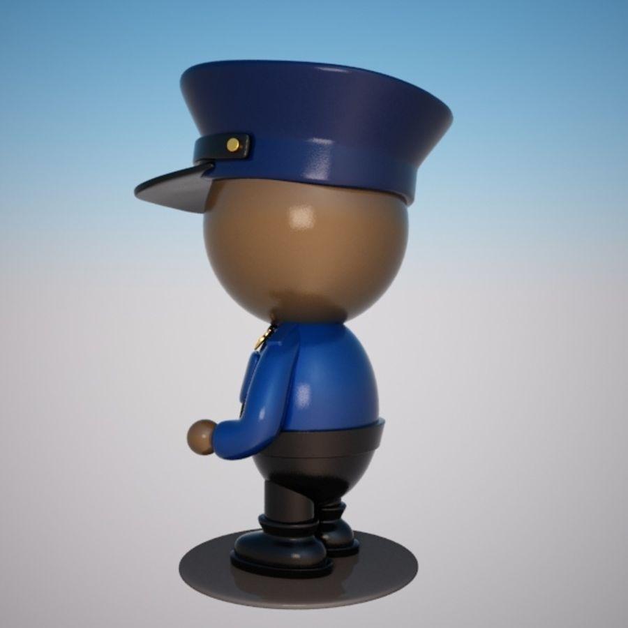 Personagem de policial de desenho animado royalty-free 3d model - Preview no. 3