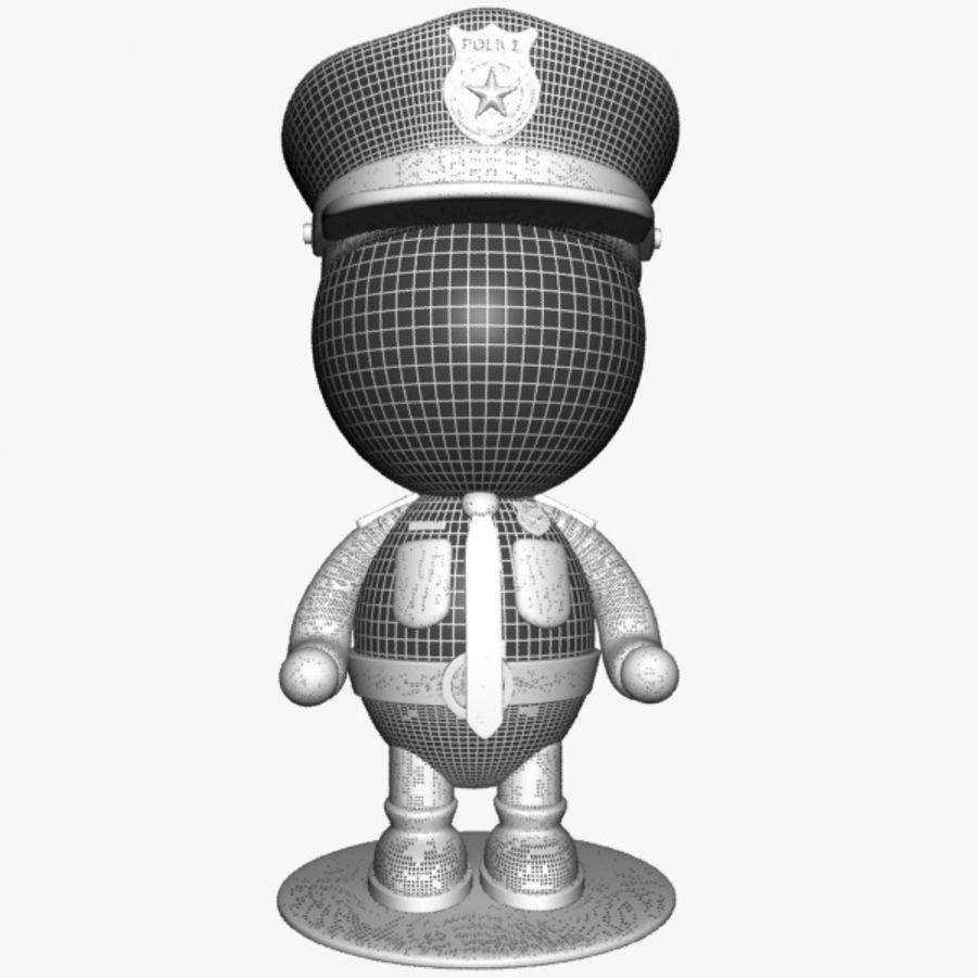 Personagem de policial de desenho animado royalty-free 3d model - Preview no. 12