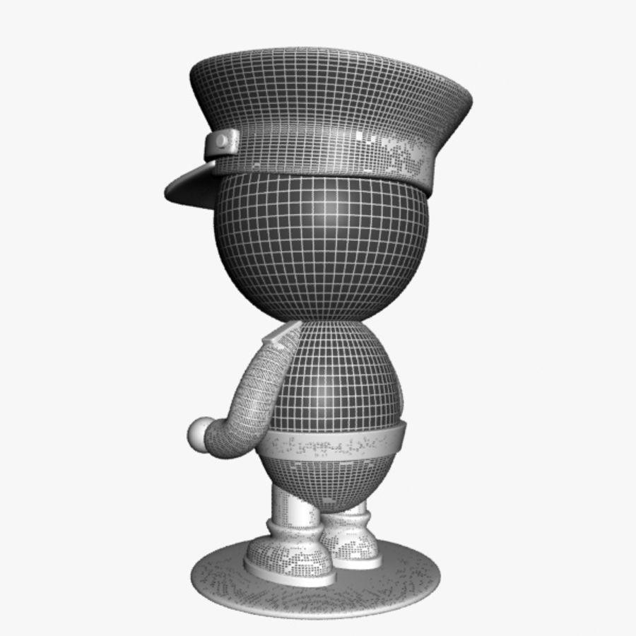 Personagem de policial de desenho animado royalty-free 3d model - Preview no. 11