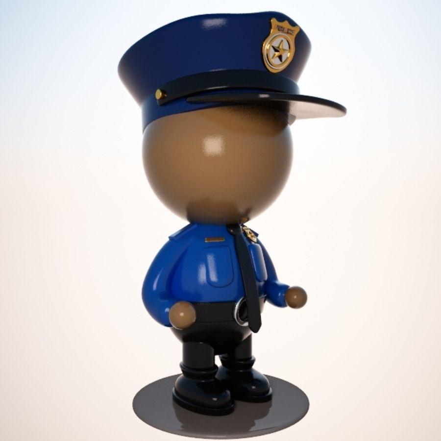 Personagem de policial de desenho animado royalty-free 3d model - Preview no. 1