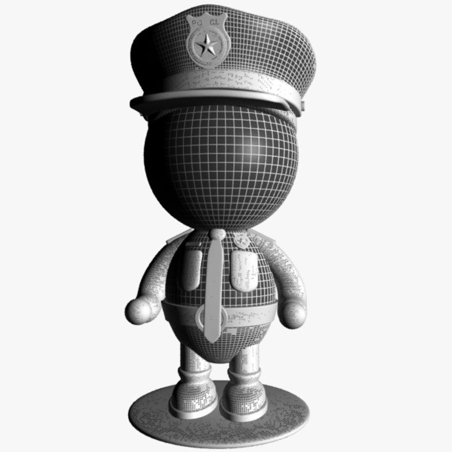 Personagem de policial de desenho animado royalty-free 3d model - Preview no. 10