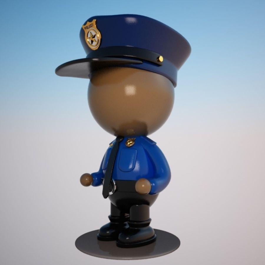 Personagem de policial de desenho animado royalty-free 3d model - Preview no. 6