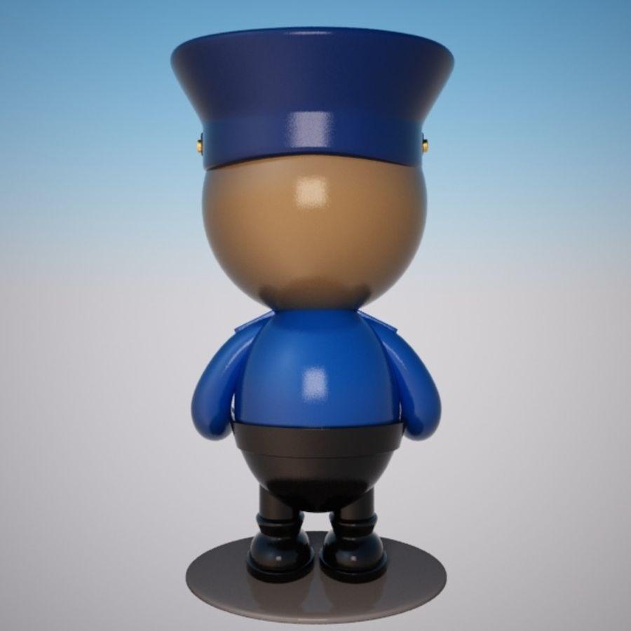 Personagem de policial de desenho animado royalty-free 3d model - Preview no. 4