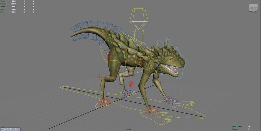Jaszczurka royalty-free 3d model - Preview no. 2