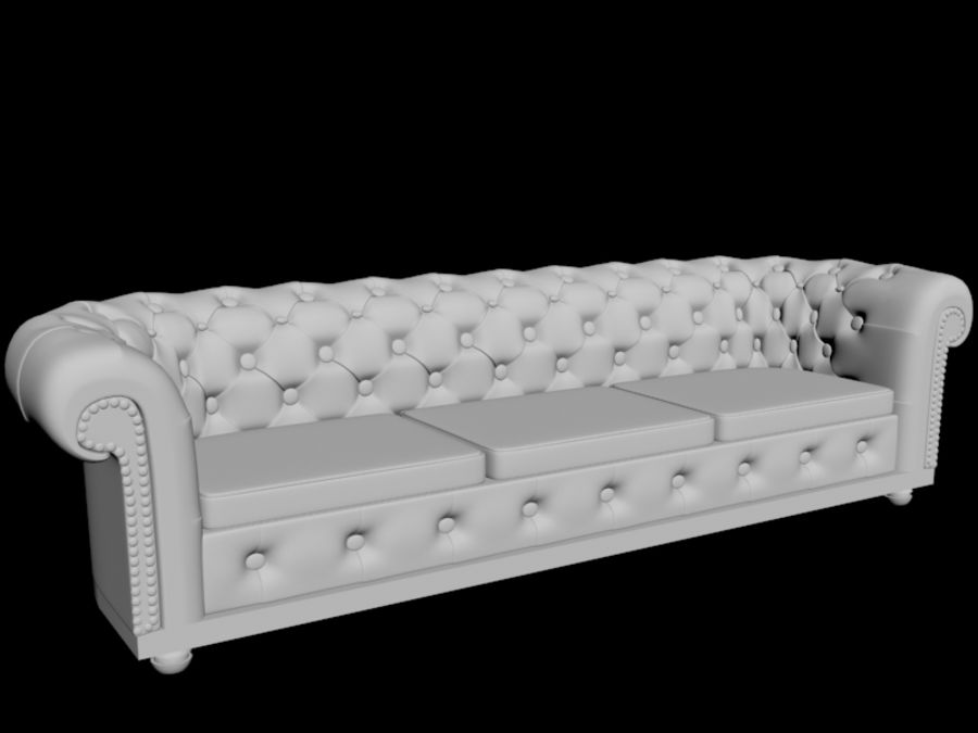 modern leather sofa royalty-free 3d model - Preview no. 5