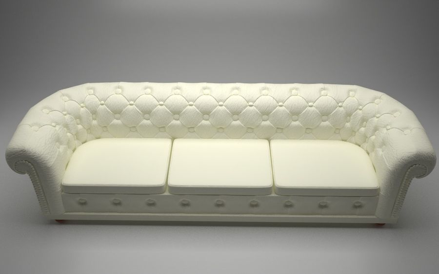 modern leather sofa royalty-free 3d model - Preview no. 4