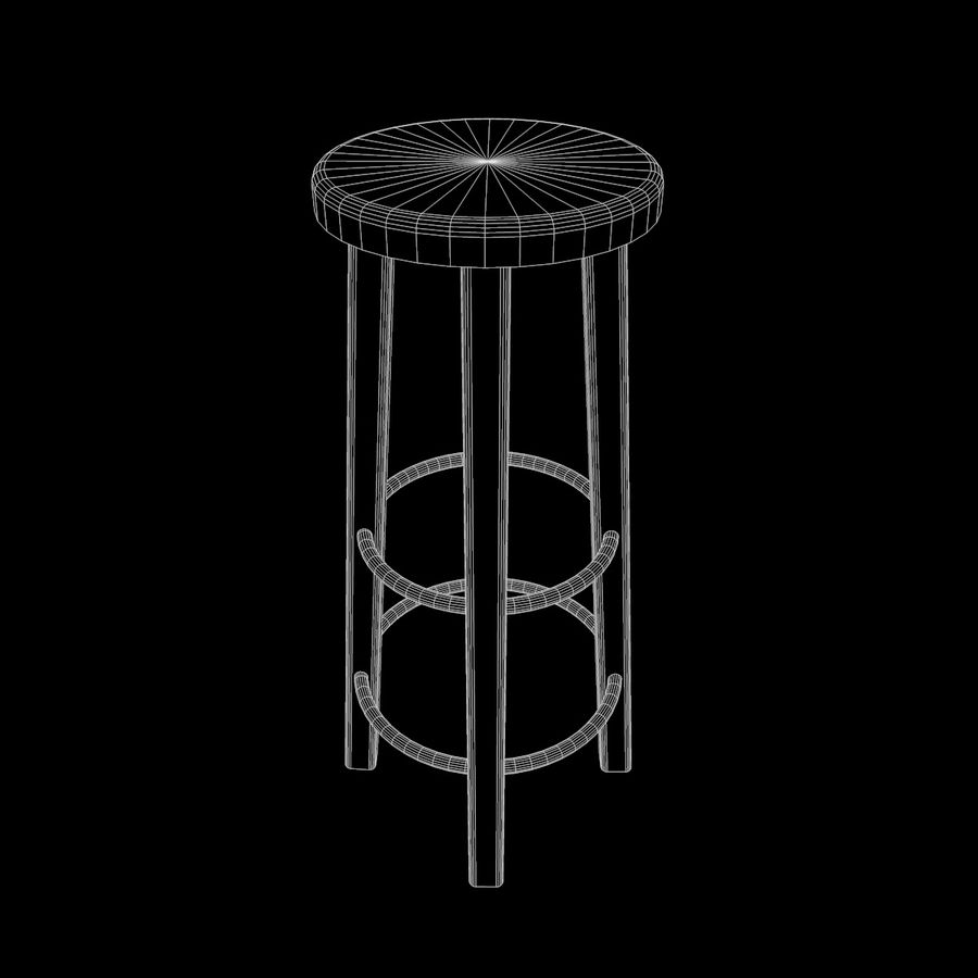 Stool Wood royalty-free 3d model - Preview no. 7