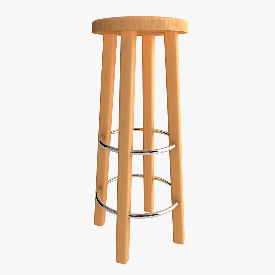 Stool Wood royalty-free 3d model - Preview no. 1