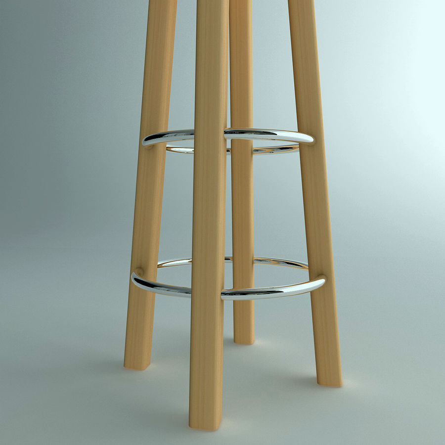 Stool Wood royalty-free 3d model - Preview no. 5