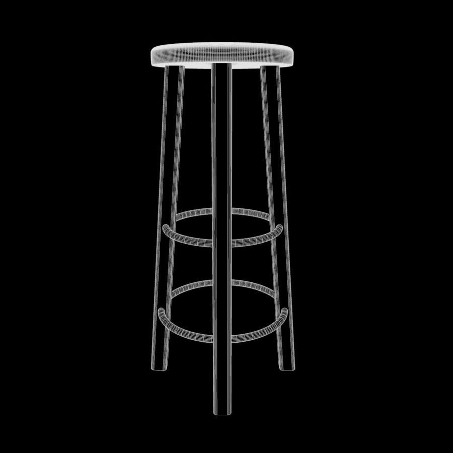 Stool Wood royalty-free 3d model - Preview no. 6