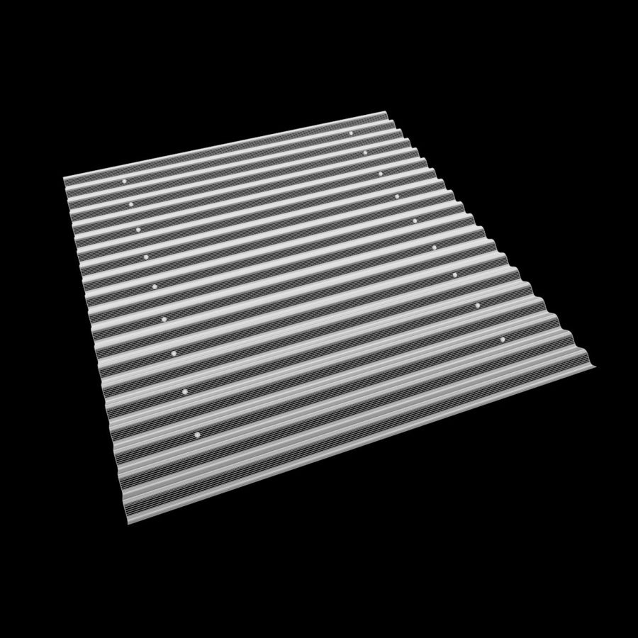 Metal Roof Sheet royalty-free 3d model - Preview no. 6