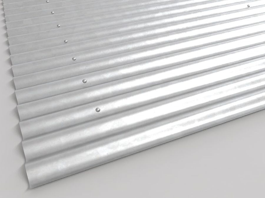 Metal Roof Sheet royalty-free 3d model - Preview no. 5
