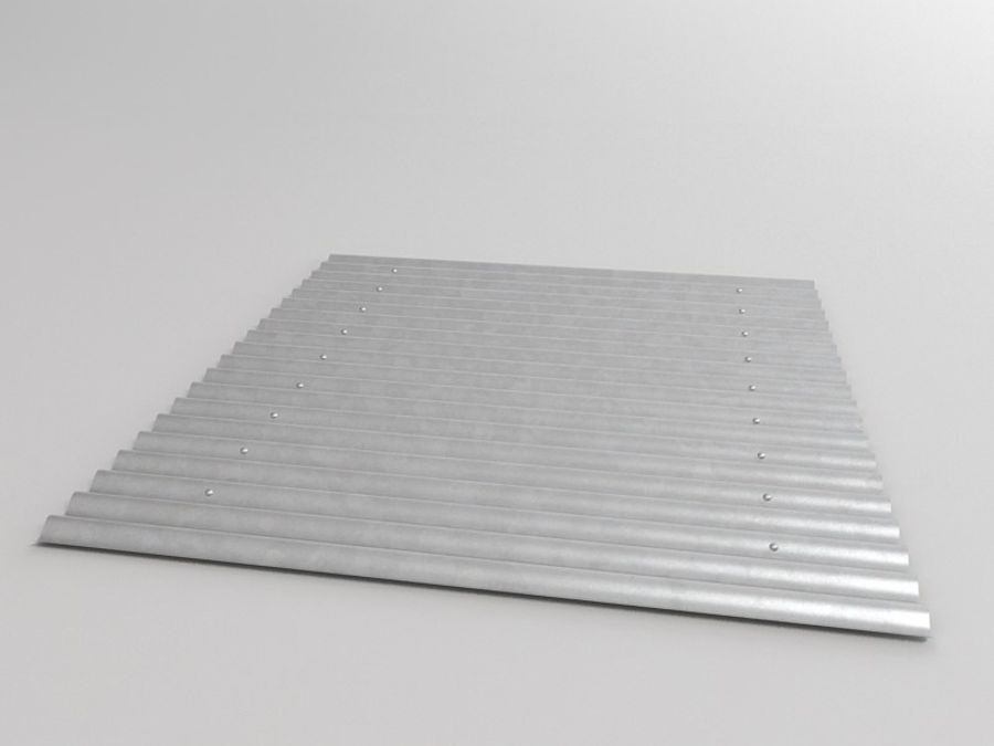 Metal Roof Sheet royalty-free 3d model - Preview no. 4
