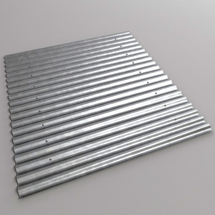Metal Roof Sheet royalty-free 3d model - Preview no. 2