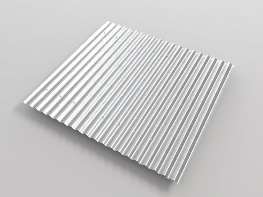 Metal Roof Sheet royalty-free 3d model - Preview no. 3