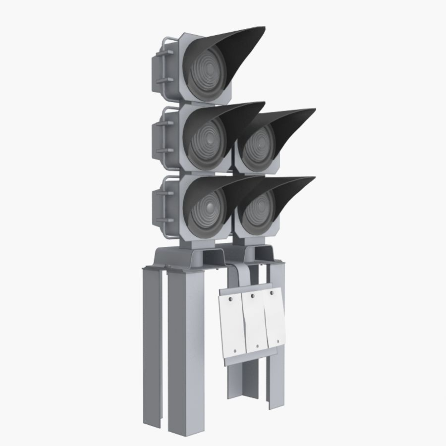 Railway Traffic Light royalty-free 3d model - Preview no. 8