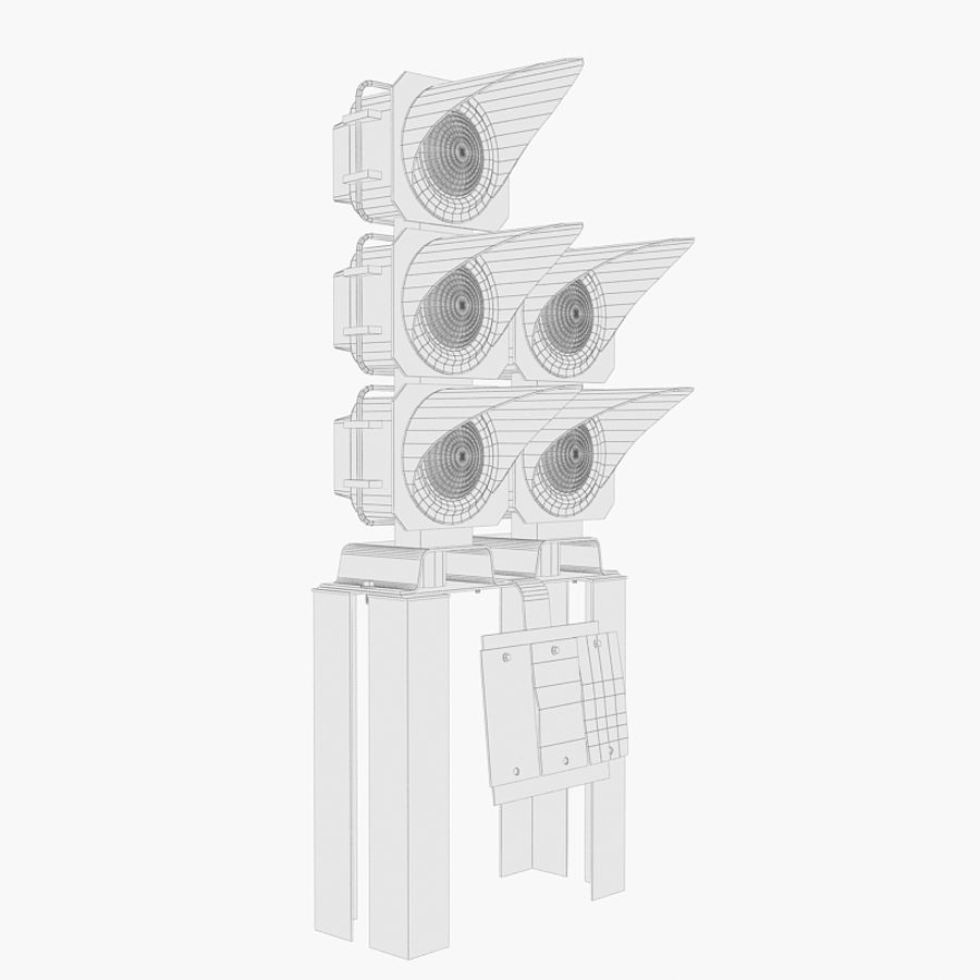 Railway Traffic Light royalty-free 3d model - Preview no. 7