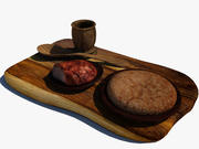Essen in Holz 3d model