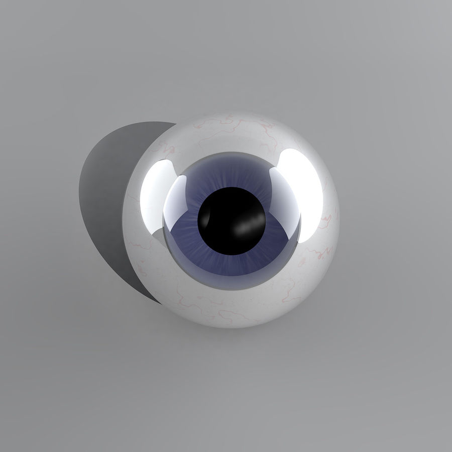 Cartoon Eyeball royalty-free 3d model - Preview no. 4