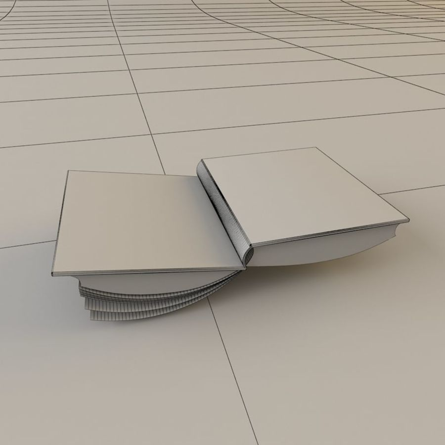 Öppen bok royalty-free 3d model - Preview no. 4