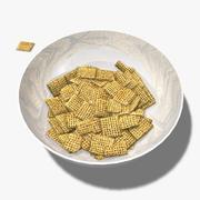 Piezas de cereal modelo 3d