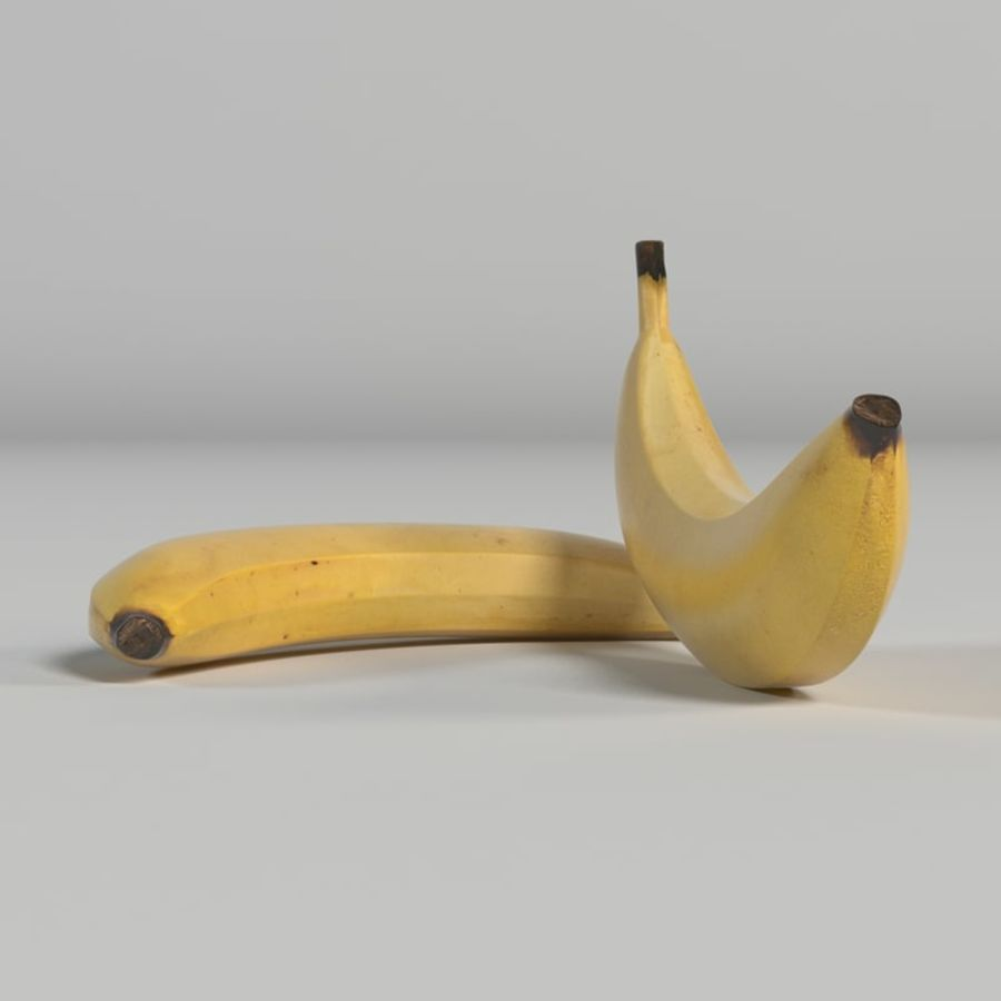 Banana royalty-free 3d model - Preview no. 10
