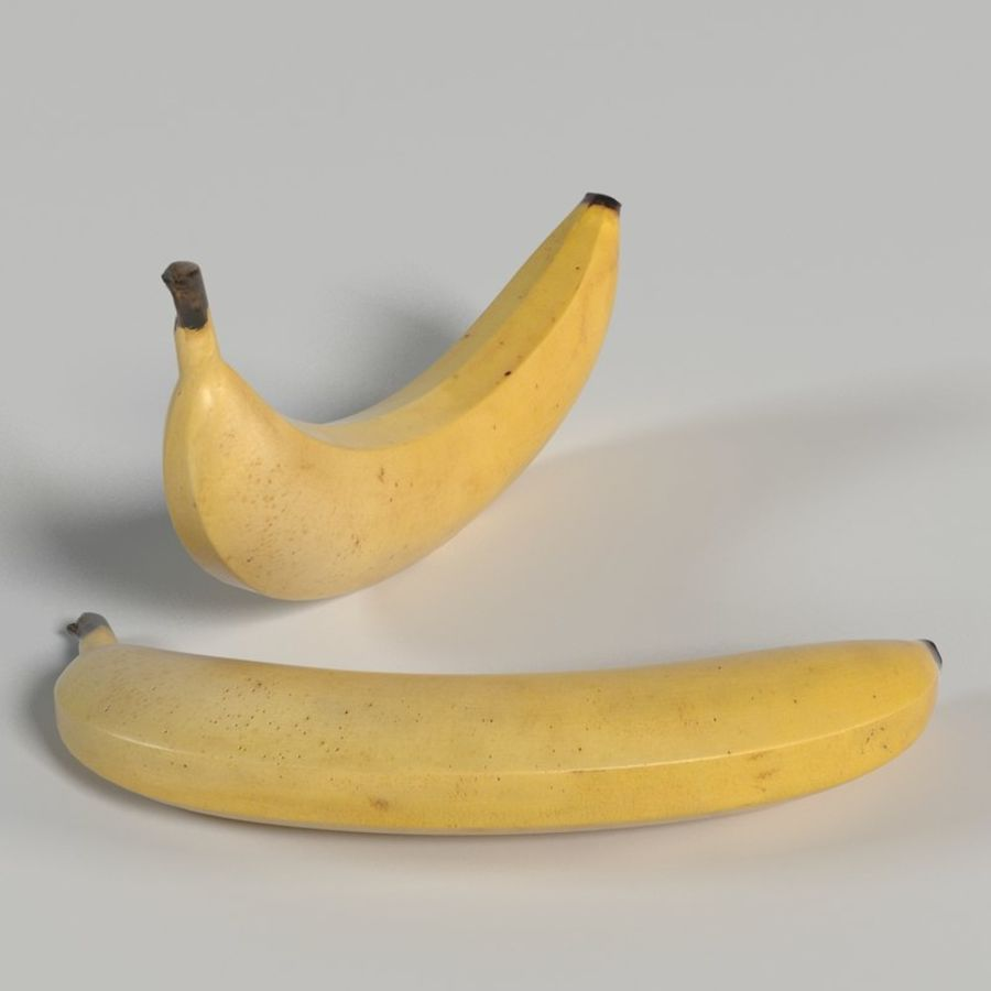 Banana royalty-free 3d model - Preview no. 8