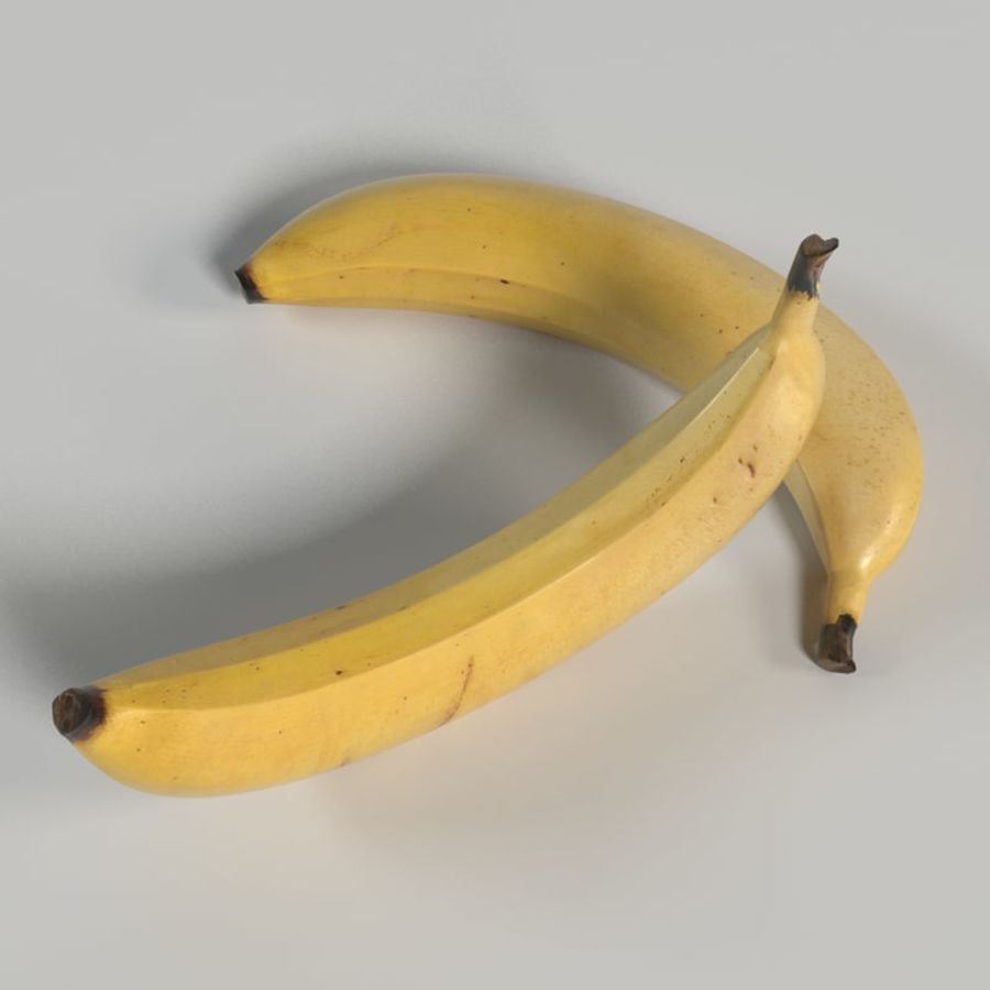 Banana royalty-free 3d model - Preview no. 5