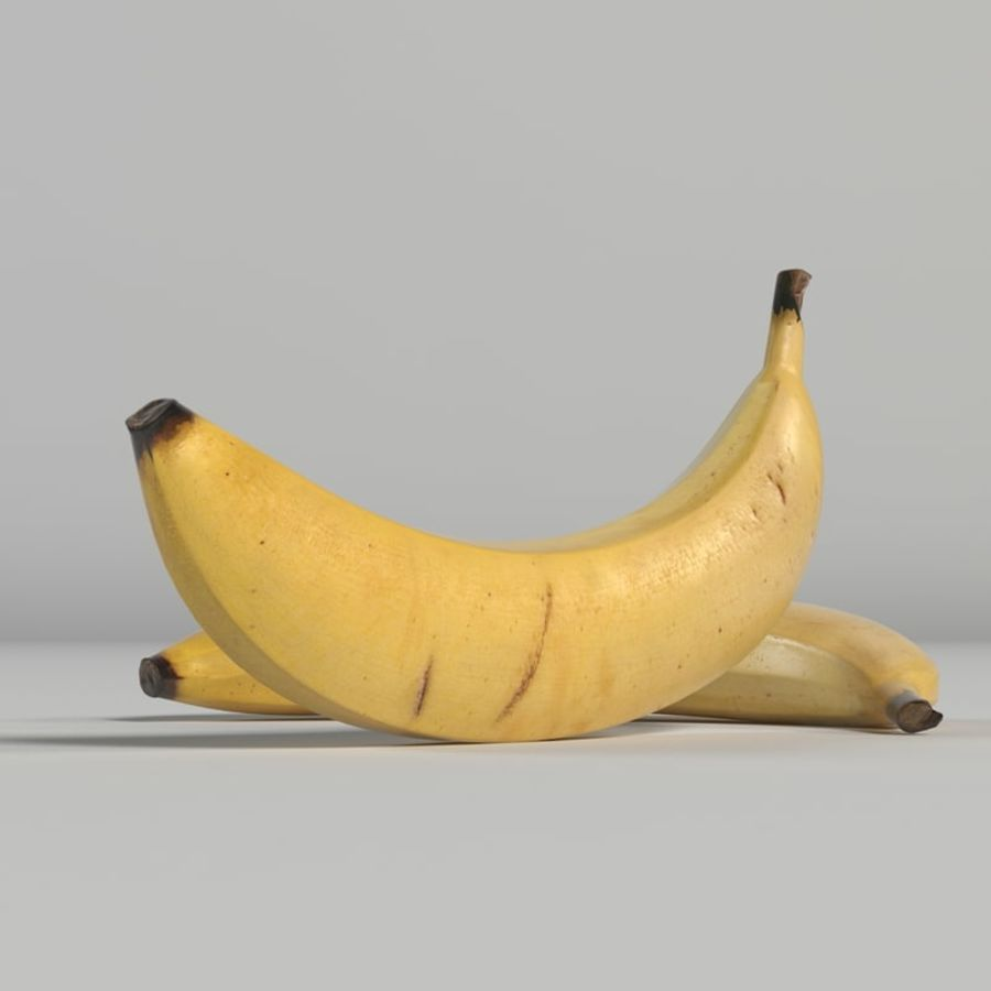 Banana royalty-free 3d model - Preview no. 9