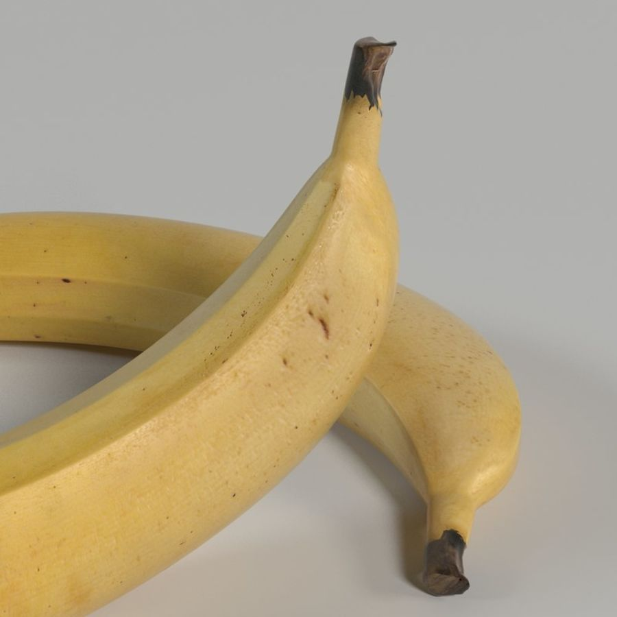 Banana royalty-free 3d model - Preview no. 7