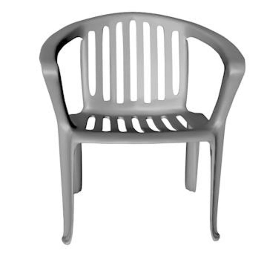 Low Poly Plastic Outdoor Chair Royalty Free 3d Model   Preview No. 3
