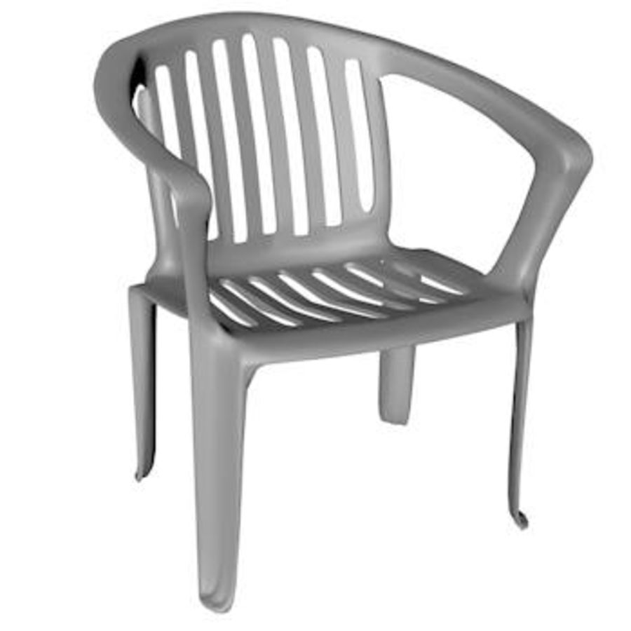Low Poly Plastic Outdoor Chair Royalty Free 3d Model   Preview No. 1