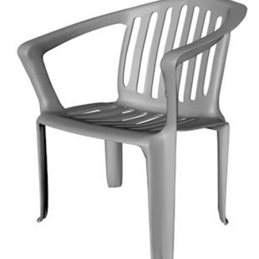 Low Poly Plastic Outdoor Chair Royalty Free 3d Model   Preview No. 2