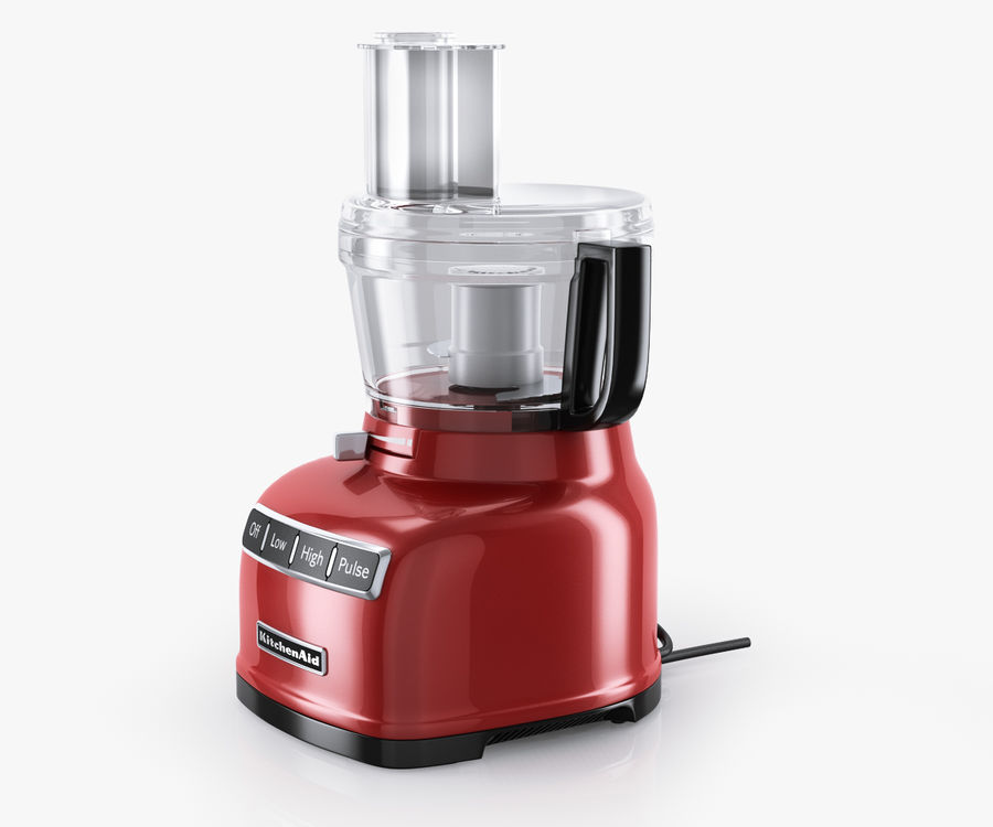 KitchenAid 7-Cup Food Processor royalty-free 3d model - Preview no. 3
