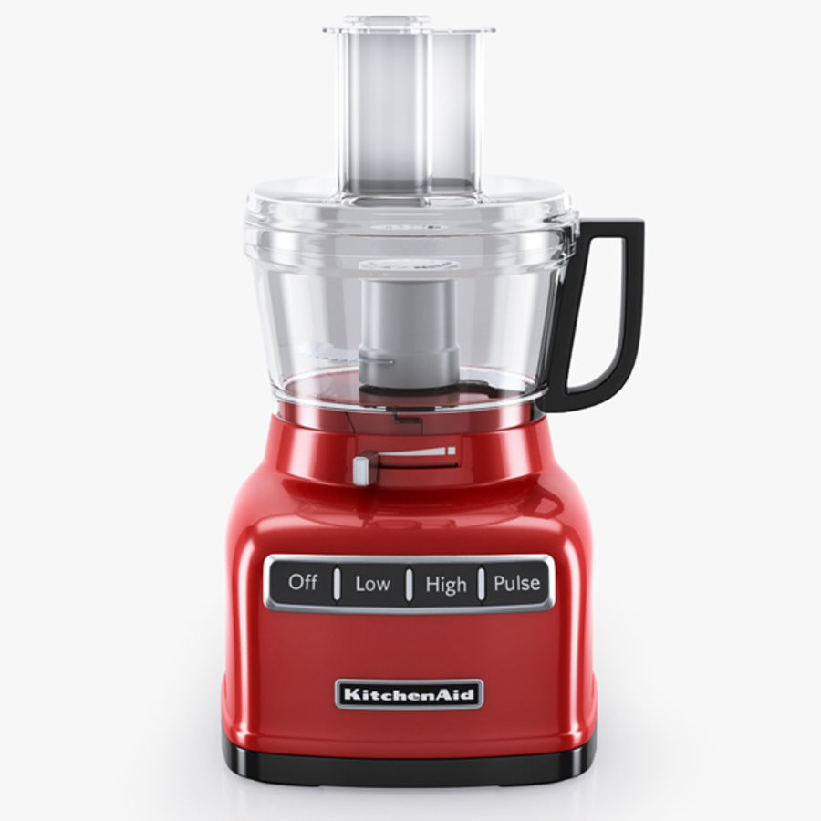 KitchenAid 7-Cup Food Processor royalty-free 3d model - Preview no. 1