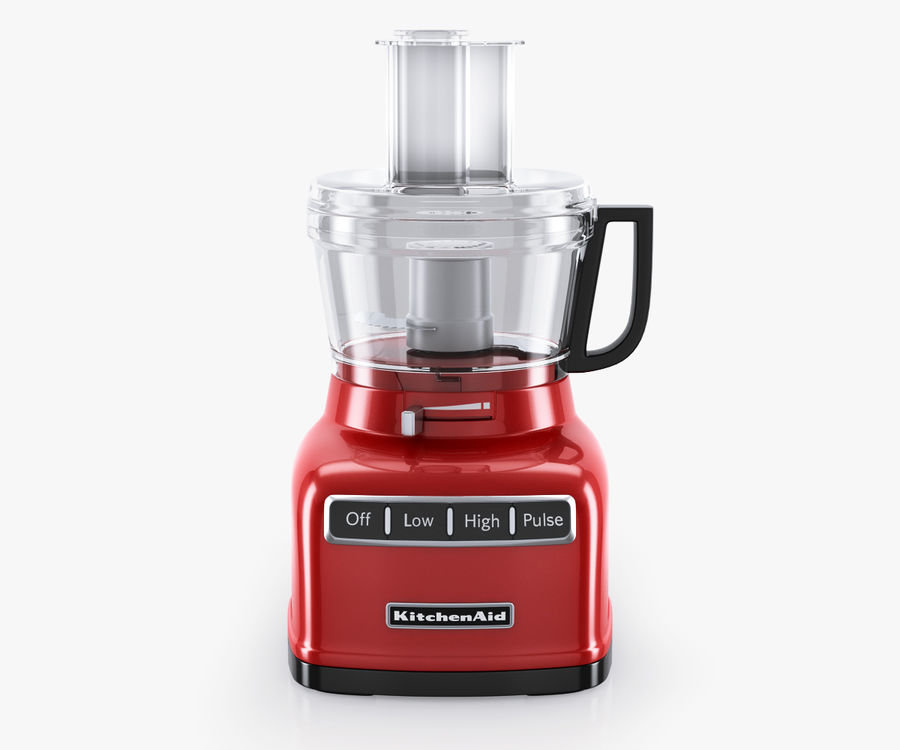 KitchenAid 7-Cup Food Processor royalty-free 3d model - Preview no. 2