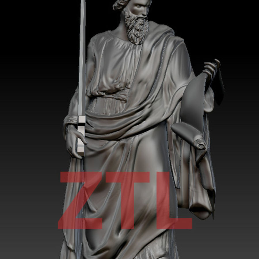 Statue Pavel royalty-free 3d model - Preview no. 4