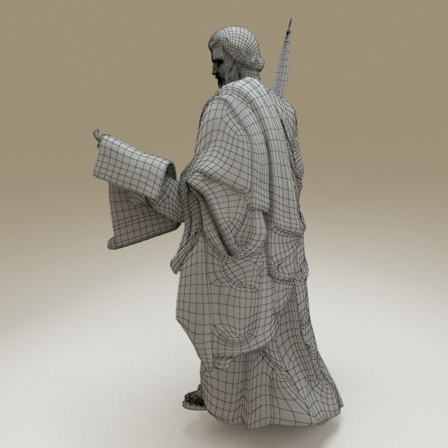 Statue Pavel royalty-free 3d model - Preview no. 10