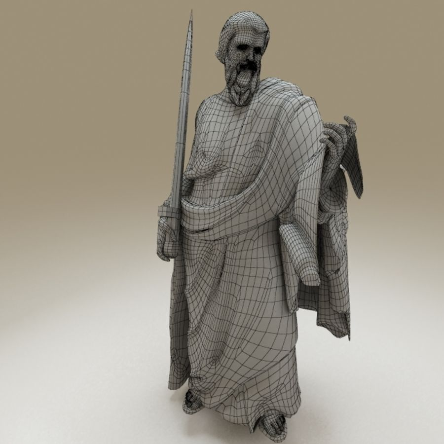 Statue Pavel royalty-free 3d model - Preview no. 8