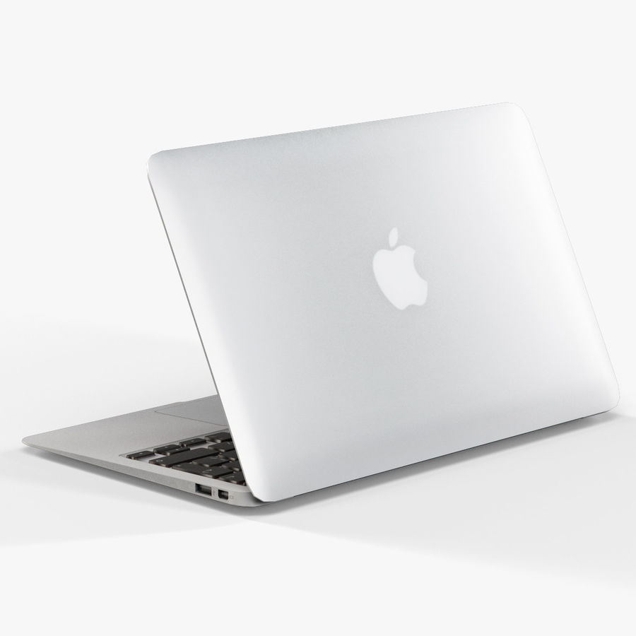 Apple MacBook Air 11 2010 Low-Poly royalty-free 3d model - Preview no. 8