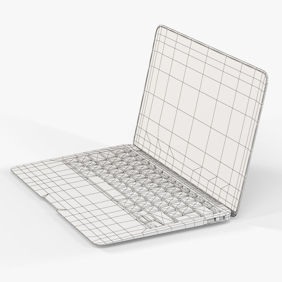 Apple MacBook Air 11 2010 Low-Poly royalty-free 3d model - Preview no. 14