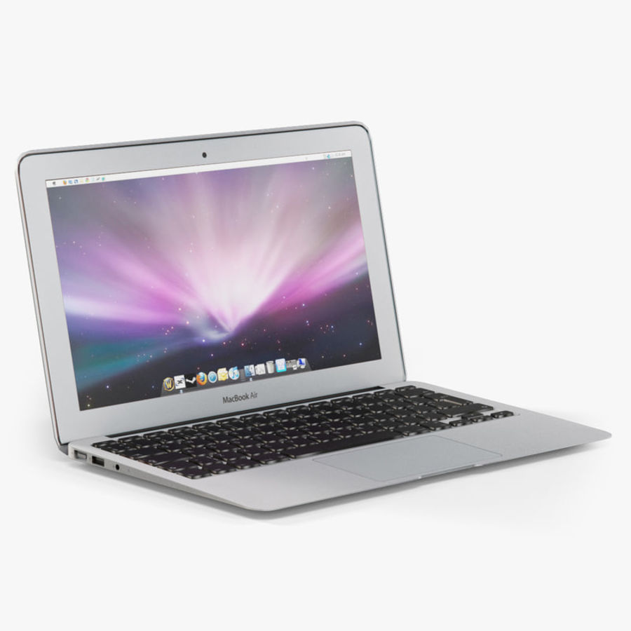 Apple MacBook Air 11 2010 Low-Poly royalty-free 3d model - Preview no. 1